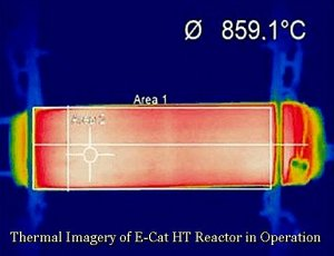 Thermal Imagery of E-Cat HT Reactor in Operation